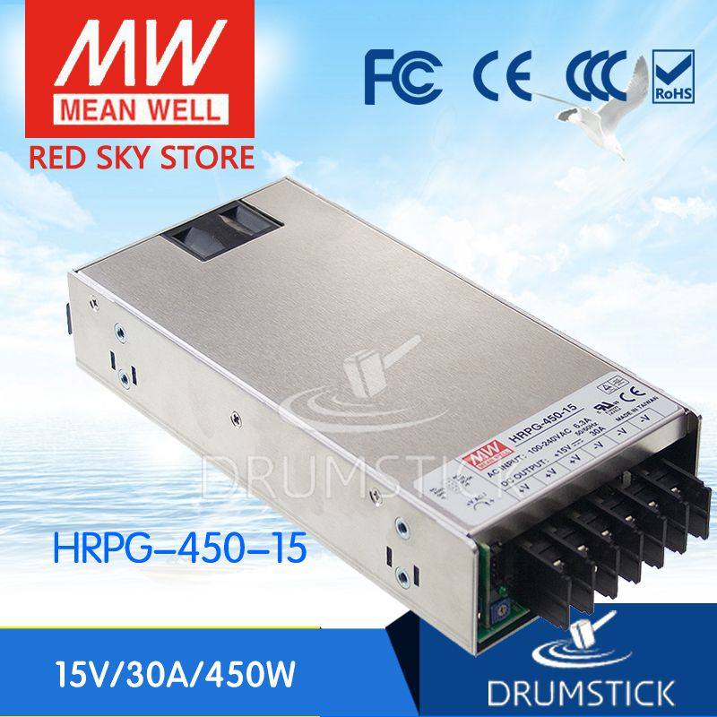 MW Mean Well HRPG-450-15 15V 30A 450W Single Output with PFC Function Power Supply