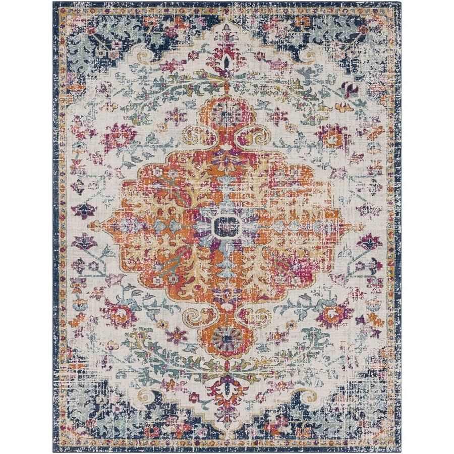 Surya harput beigeorangeblue indoor area rug common x
