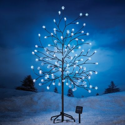 Solar Snowflakes Christmas Tree Stake christmas decorations - solar christmas decorations