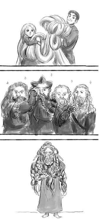 Rapunzel meets the dwarves