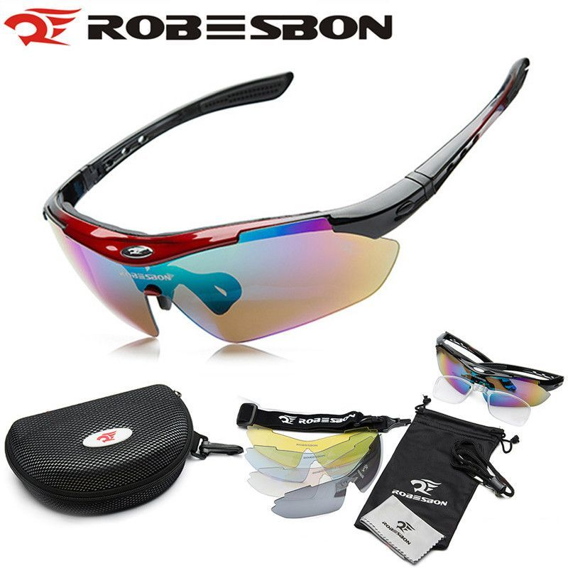 7bab5ffa9d WOLFBIKE Men Cycling Bycle Road Mountain Bike Outdoor Sports Sun lasses  Eyewear oggle Sunglasses 5 Lens Polarized