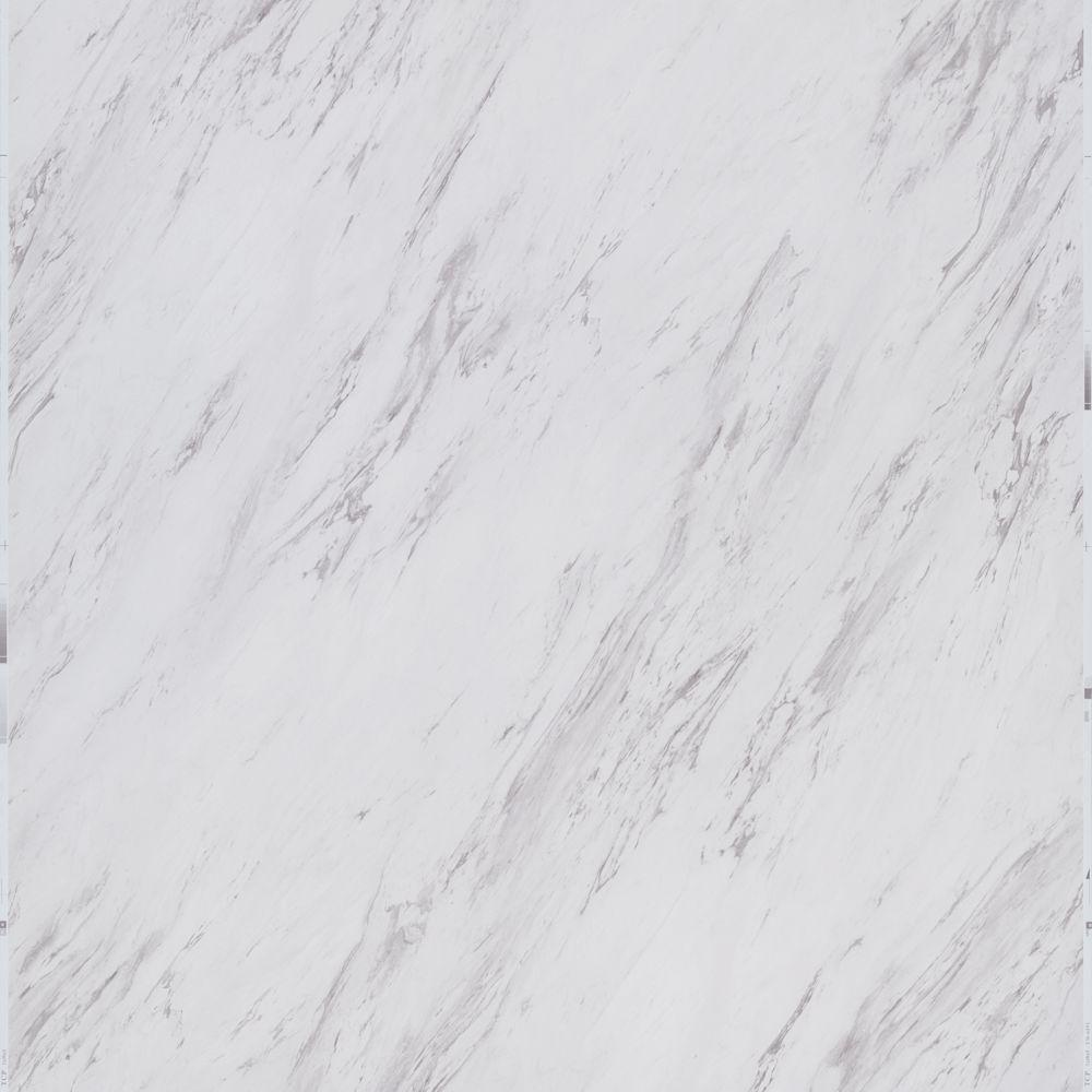 Trafficmaster Carrara Marble 12 In X 24 In Peel And Stick Vinyl Tile 20 Sq Ft Case Ss1212 The Home Depot Peel And Stick Vinyl Vinyl Tile Marble Vinyl