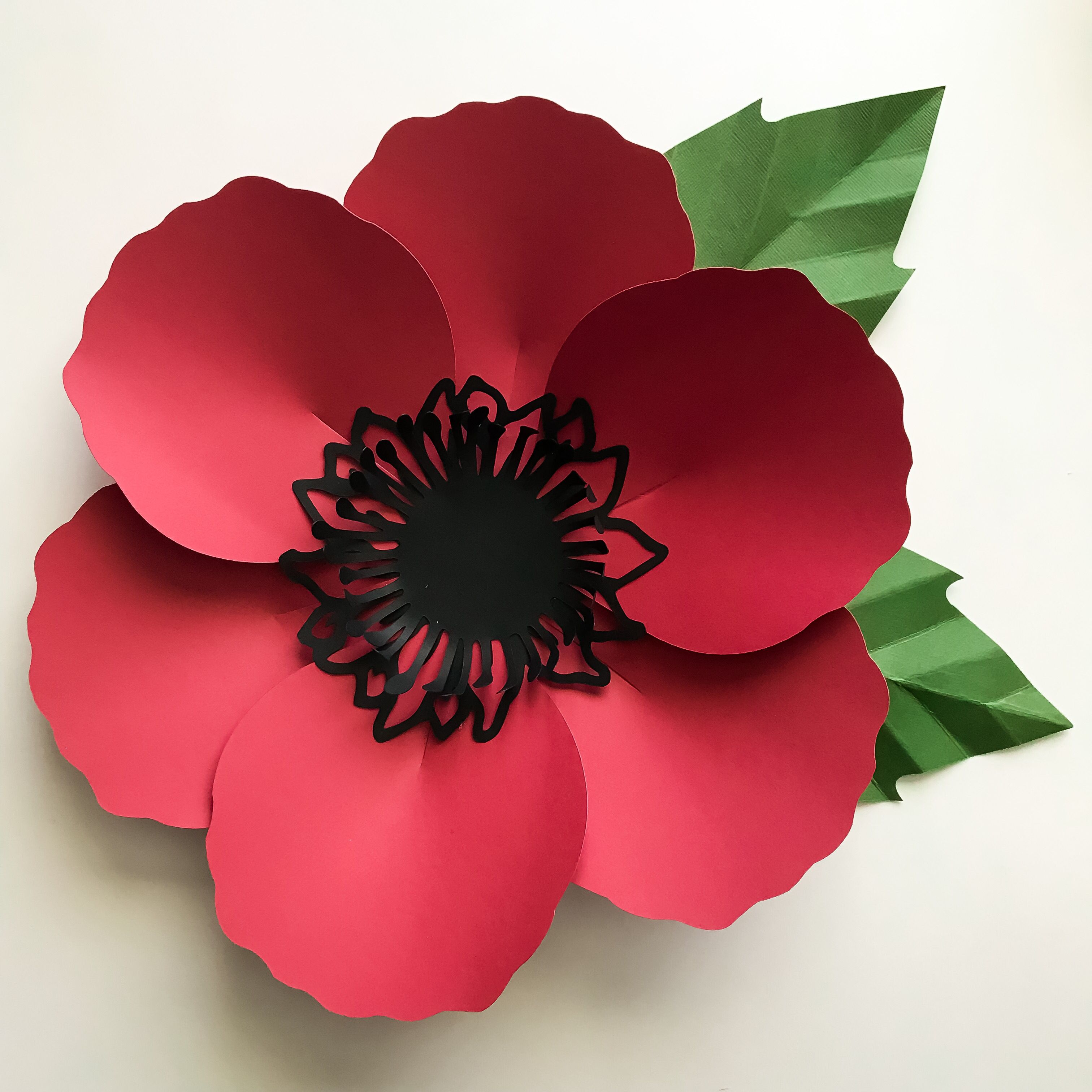 Poppy Flower. Paper flower templates from The Crafty Sagittarius ...