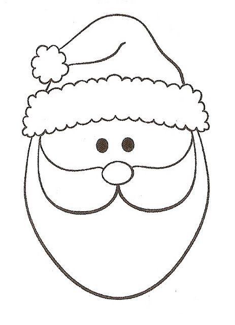 Educar Partilhando Molde Papai Noel Rosto Papai Noel Papai
