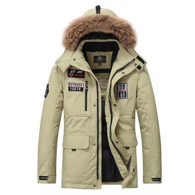 Thick Warm Winter Jacket Parkas Men Waterproof Casual Loose Fur ...