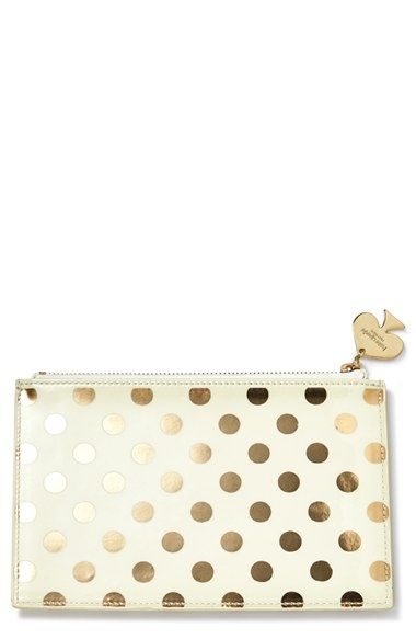 kate spade new york foil dot pencil pouch set available at #Nordstrom