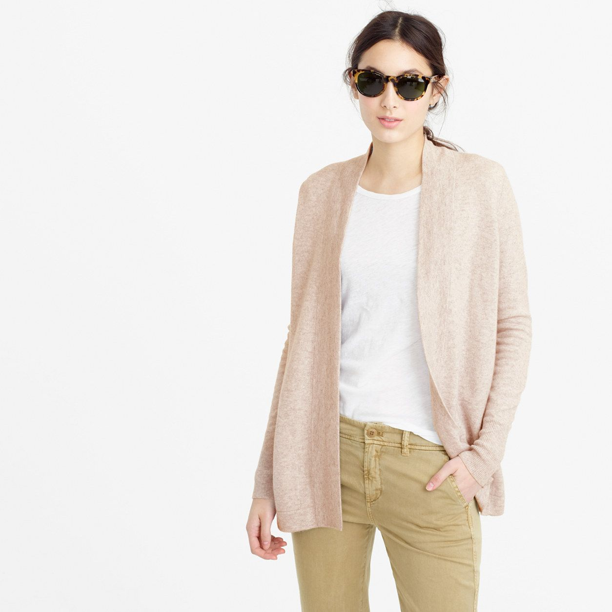 big discount thoughts on good quality J.Crew Womens Italian Cashmere Long Open Cardigan Sweater (Size M ...
