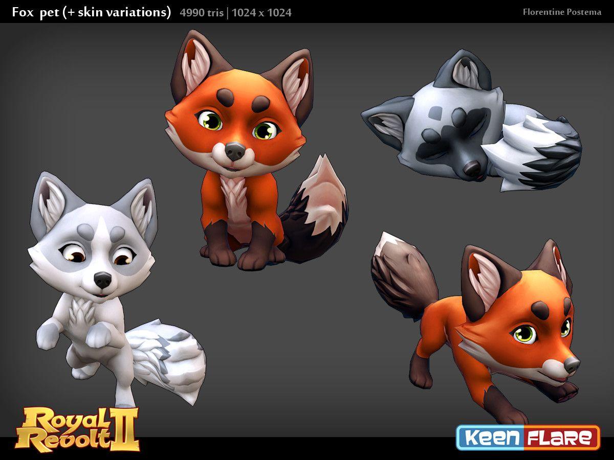 Artstation Royal Revolt 2 Character Fox Pal Florentine Postema Revolt 2 Character Pals