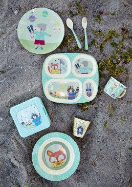 rice - Melamin Kinderschüssel Boys Happy Camper