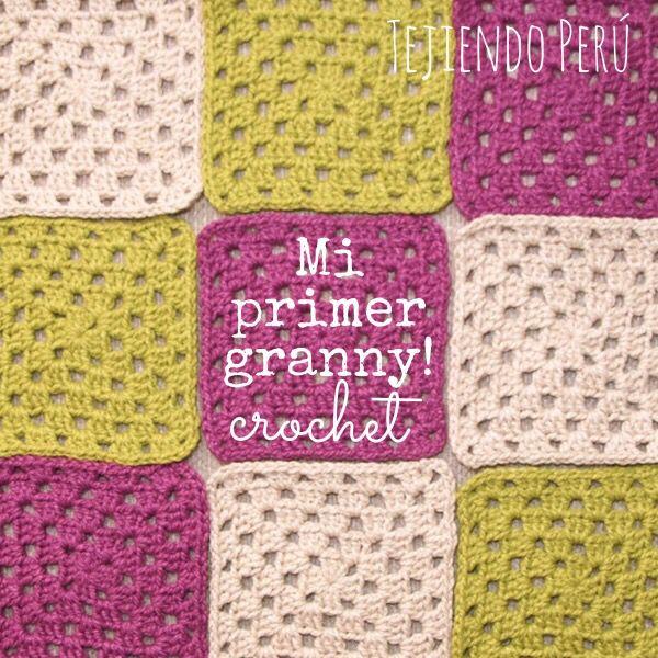 Crochet granny para principiantes paso a paso muy f cil - Mantas de ganchillo faciles ...