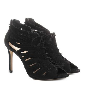 Peep Toe Couro Shoestock Salto Grosso | Shoestock