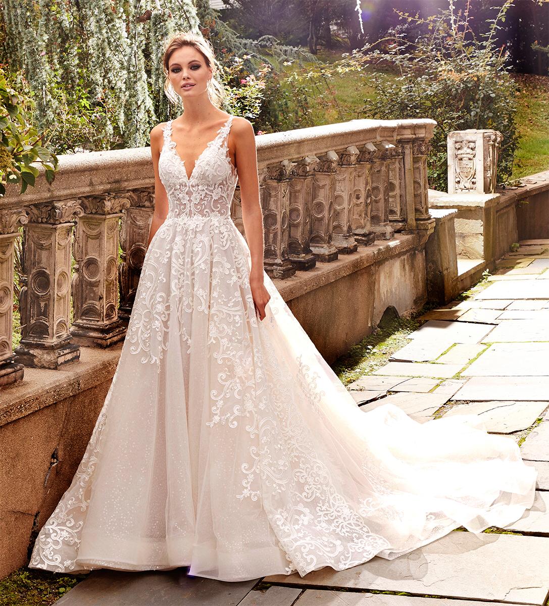 Aline Lace Vneck Wedding Dress V neck wedding dress