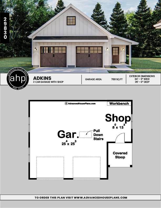 Modern Farmhouse Garage Plan Adkins Farmhouse Garage Garage Plans With Loft Garage House Plans