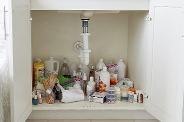 How To Organize Your Under Bath Sink Cabinet | The Container Store #organizemedicinecabinets How To Organize Your Under Bath Sink Cabinet | The Container Store #organizemedicinecabinets