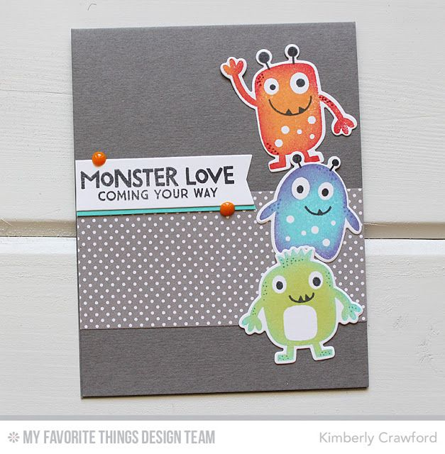Mft stamps wsc 295 monster love stamps monsters and cards for Paper mashing craft