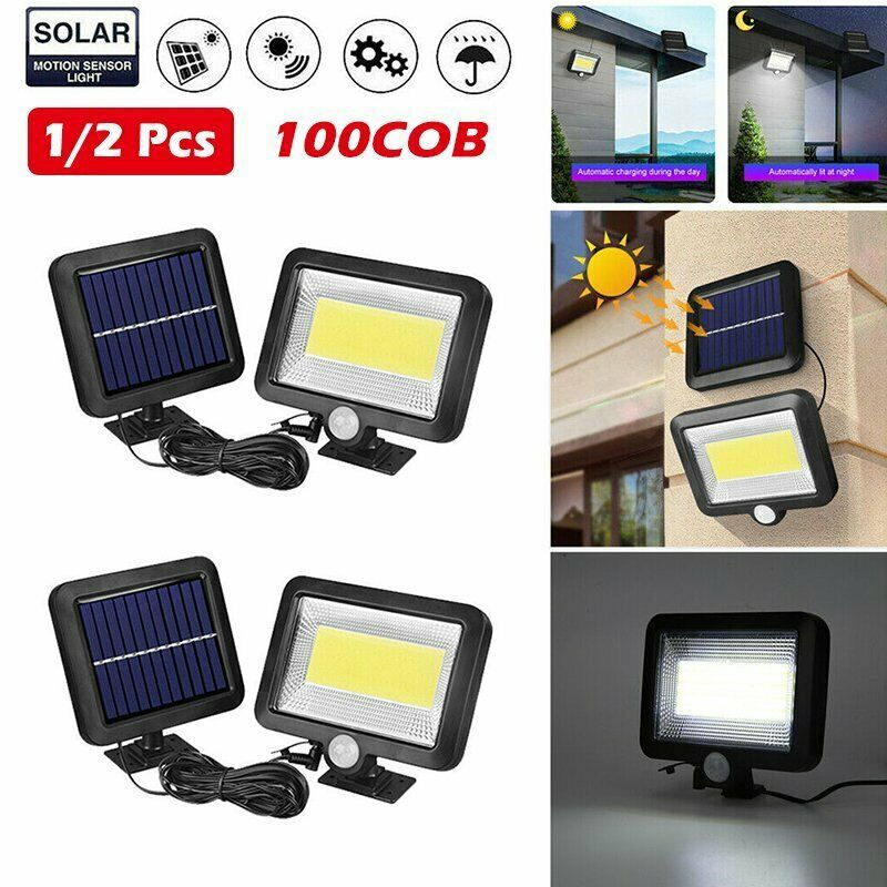 Details About 100 Led Solar Wall Light Outdoor Garden Security Lamp Motion Sensor Floodlights Solar Wall Lights Motion Lights Outdoor Motion Sensor Lights Outdoor