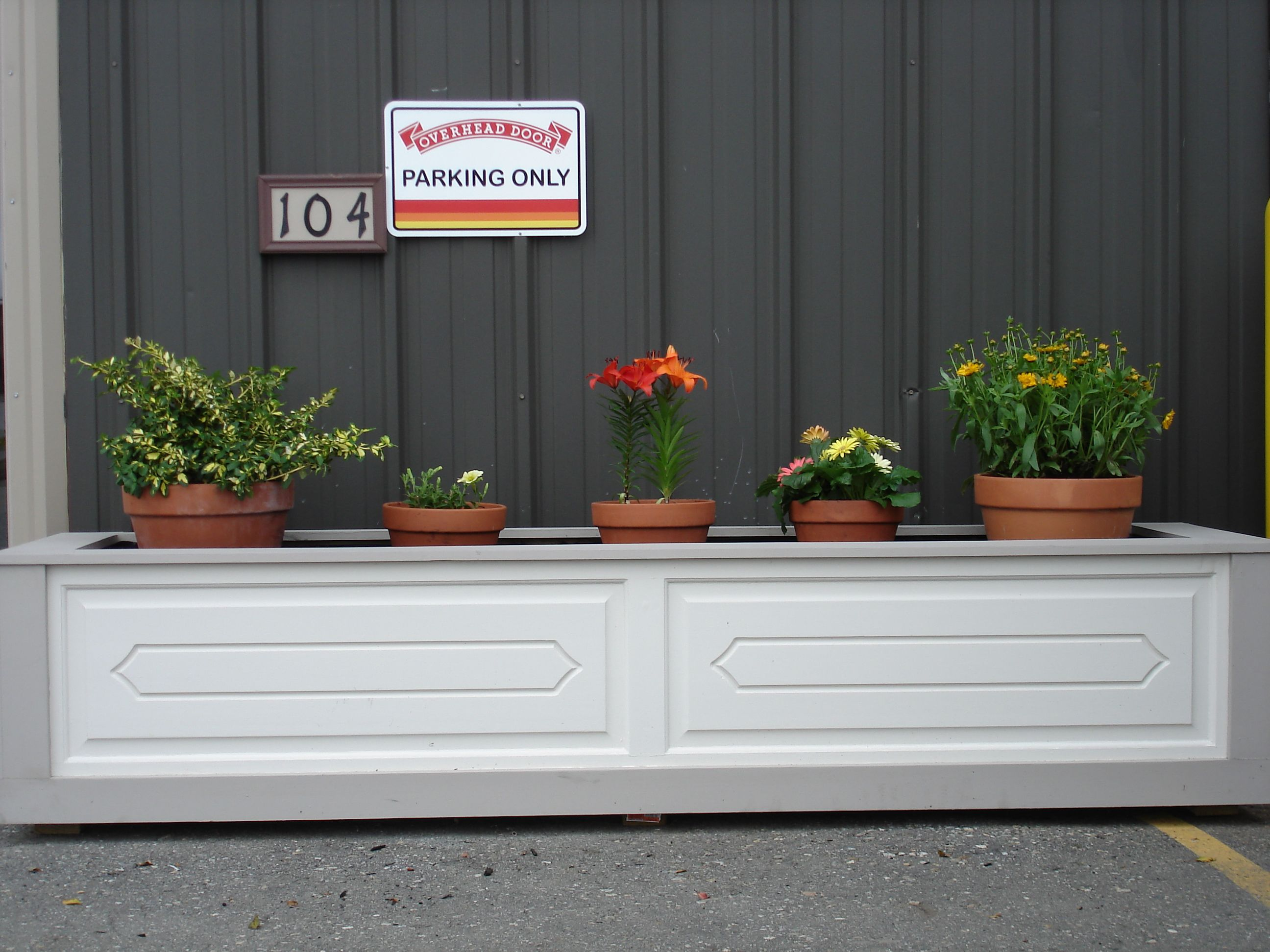 We Made A Set Of Matching Planters Out Of An Old Wood
