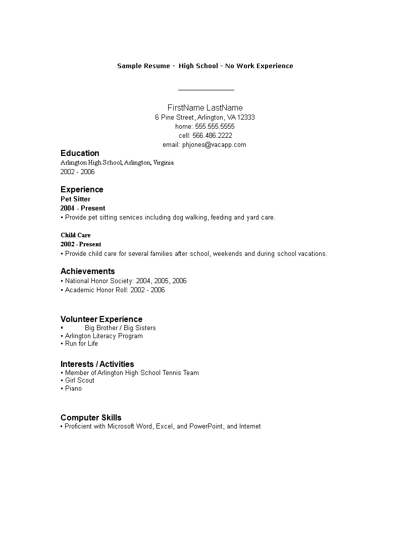 Simple Resume Format How To Draft A Resume Format Download This Simple Resume Format Template Now Work Experience Resume No Experience Resume