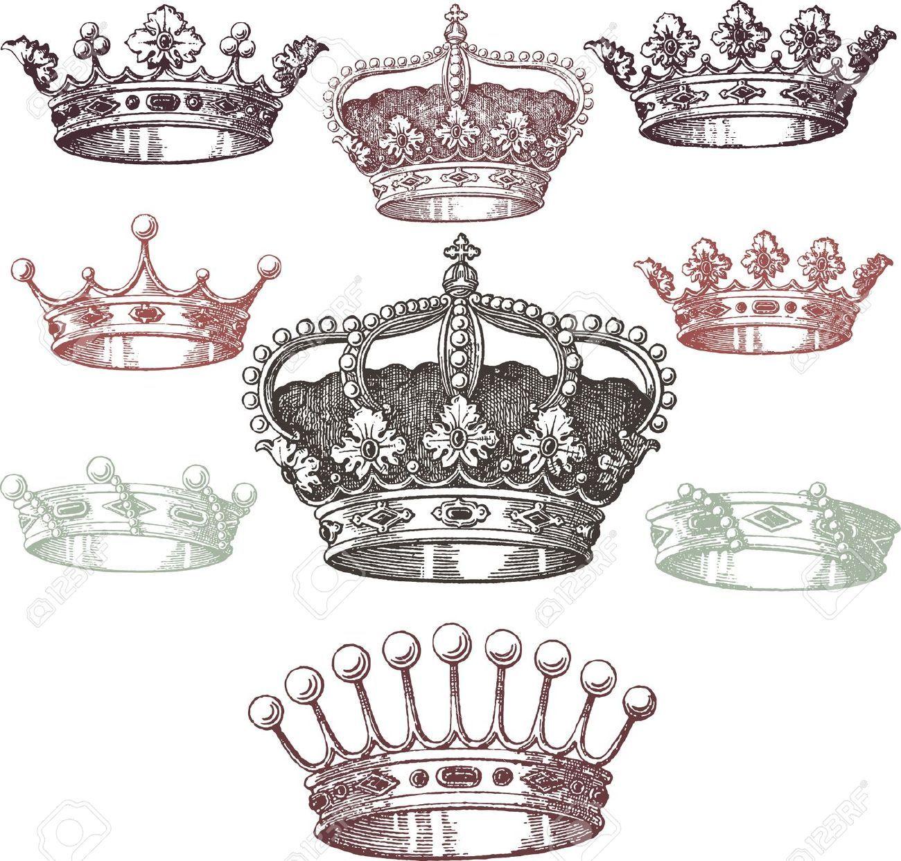 Stock Vector   Crown tattoo design, Tattoo designs, Gem tattoo