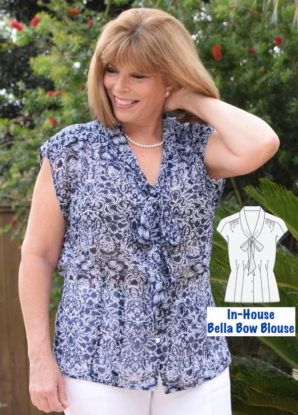 In House Belle Blouse 3005 Pattern Review By Mojosew Sewing