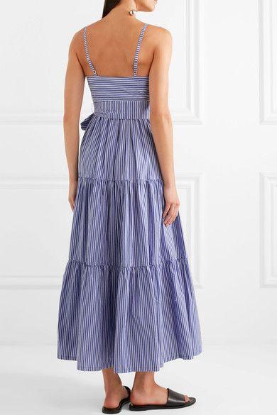 43d0b9778 J.Crew - Garratt tiered striped cotton-poplin midi dress | Closet ...
