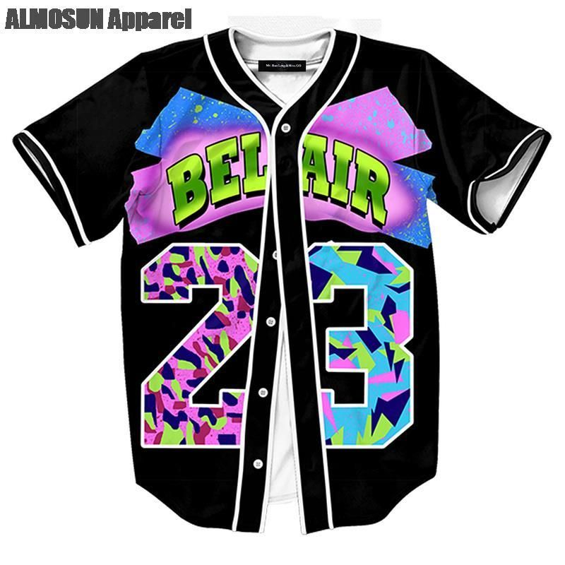 Fresh Prince of Bel Air  23 Baseball Jersey  7f939a294