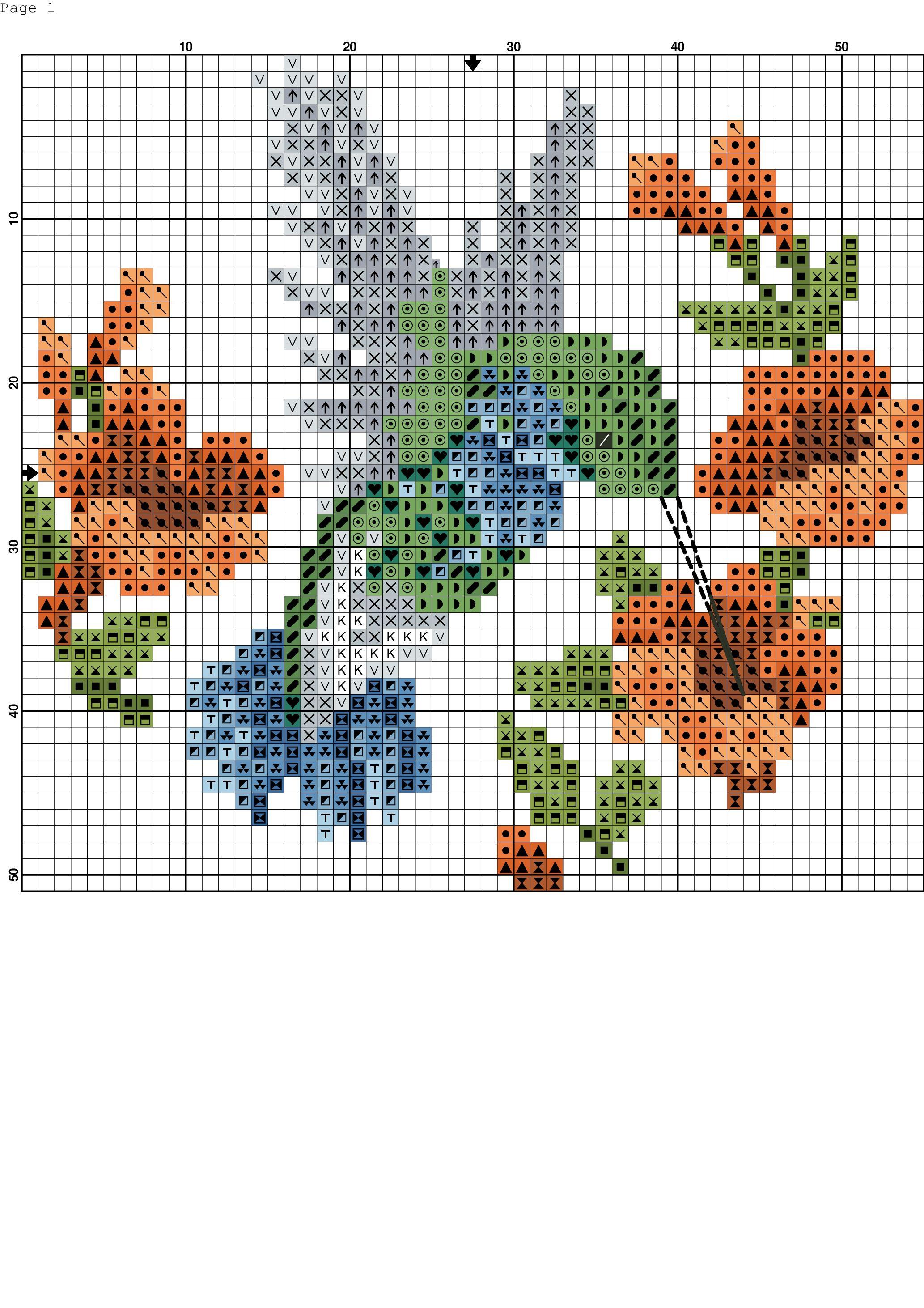 Colibrí. Punto de cruz. | Cross stitch patterns, Cross stitch ...