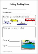 Downloadable Holiday Booking Form  Dramatic Play