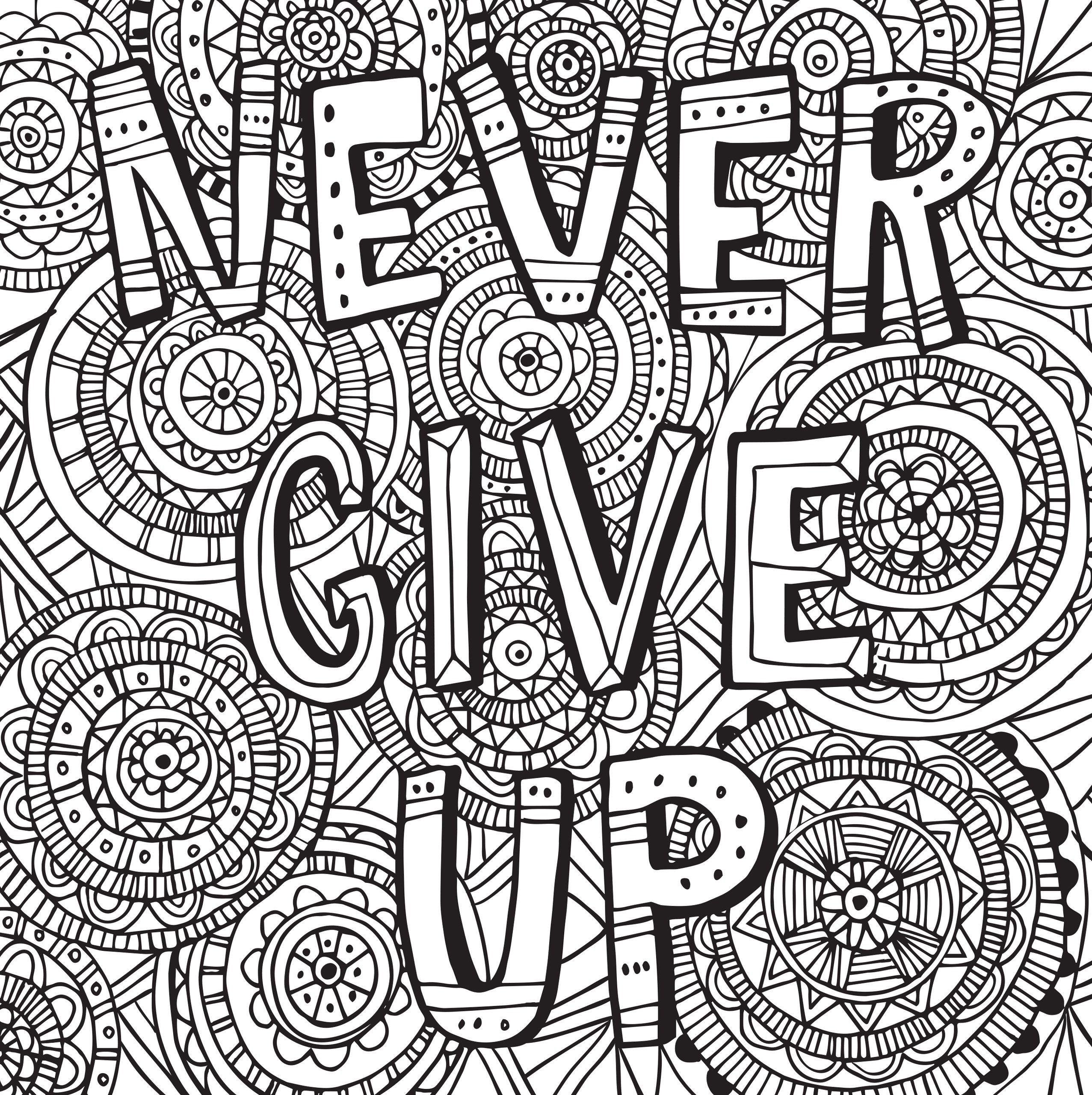 Awesome Quote Coloring Pages Inspiration Graphic Free ...