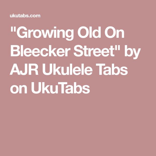 Growing Old On Bleecker Street