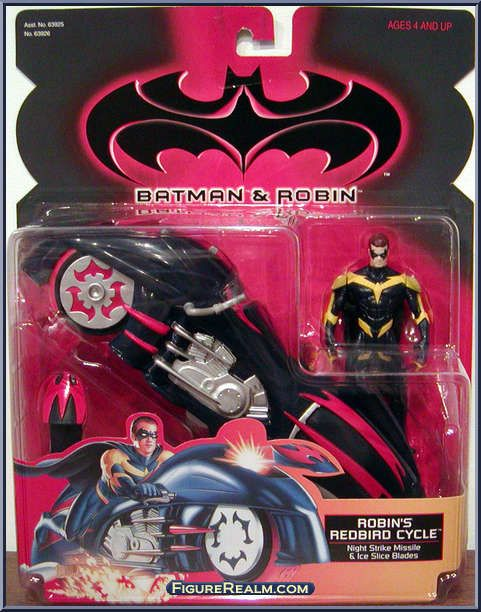 Kenner Batman & Robin Deluxe Robin's Redbird Cycle Figure 1997