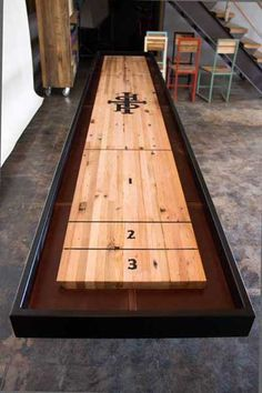 Shuffleboard Table   For The Game Room.