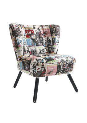 Einzelsessel design  Max Winzer® Stuhlsessel im Retro-Design »Neele«, mit Holzbeinen