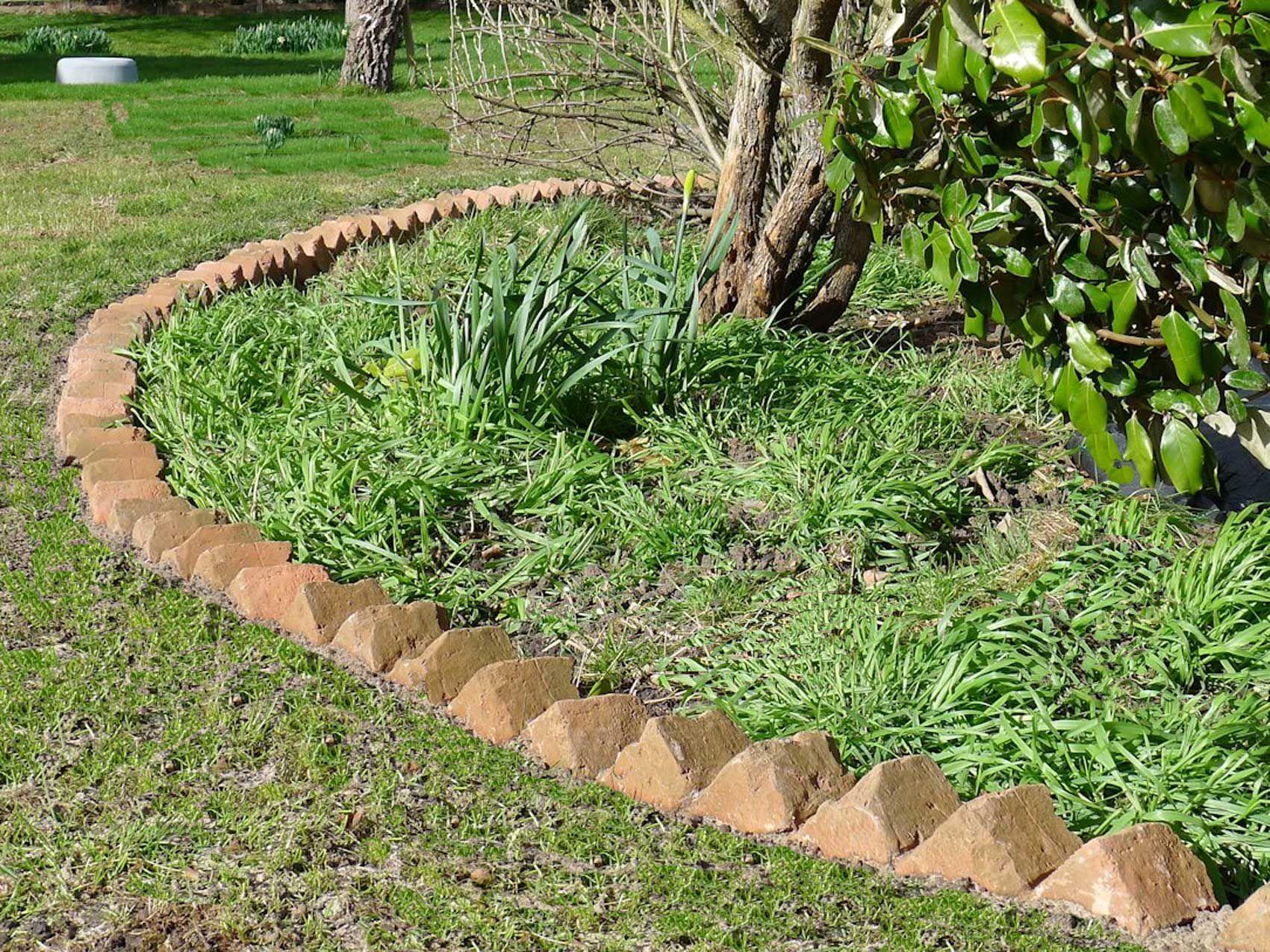 Sawtooth Brick Edging Brick Garden Brick Edging Garden Edging