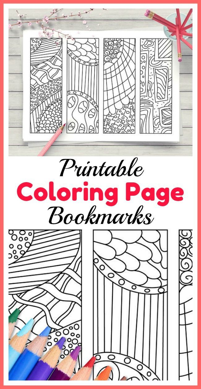 Zendoodle Coloring Bookmarks Printable Bookmarks To Color Diy