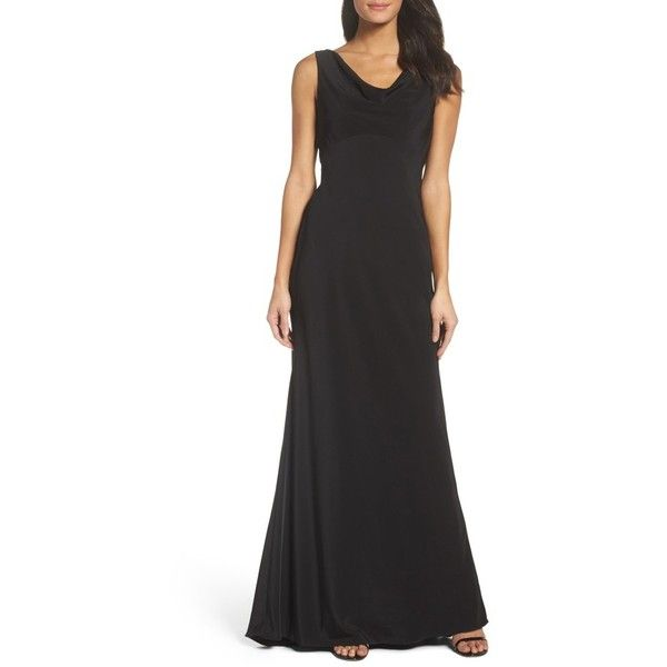 Women\'s Xscape Draped Gown ($218) ❤ liked on Polyvore featuring ...