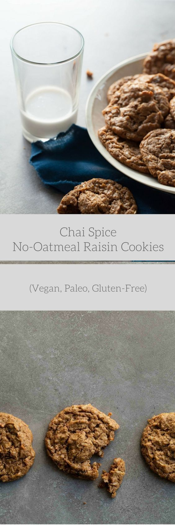 Chai Spice No Oatmeal Raisin Cookies Vegan Paleo Recipe Raisin Cookies Oatmeal Raisin Vegan Cookies