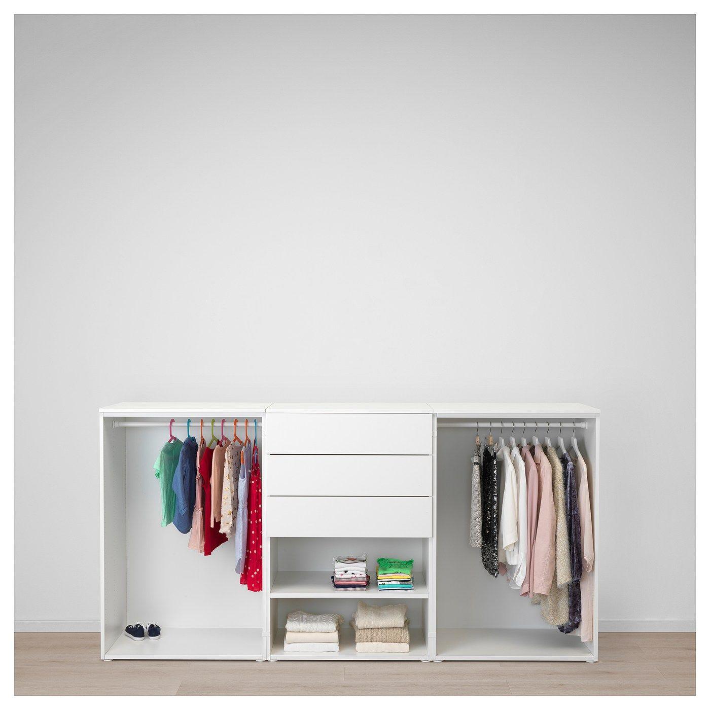 Platsa Kleiderschrank Weiss Fonnes Sannidal Ikea Deutschland