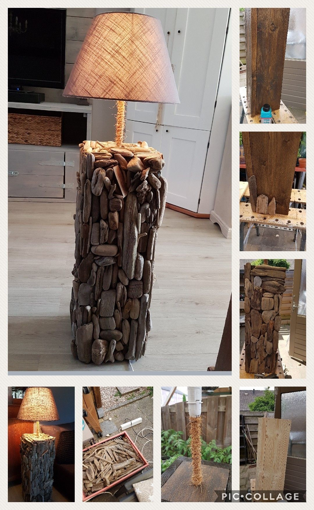 The process of making a driftwood lamp (1meter) | Lights ...