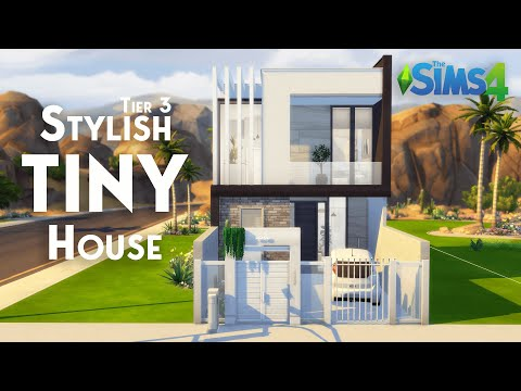 Stylish Tiny House Tier 3 No Cc The Sims 4 Stop Motion Build Youtube In 2020