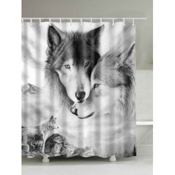 3d Wolf Digital Print Shower Curtain Wolf Shower Curtain Shower