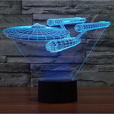 Kriegsschiff+Touch+Dimm-3D+LED-Nachtlicht+7colorful+Dekoration+Atmosphäre+Lampe+Neuheit+Beleuchtung+Weihnachtslicht+–+EUR+€+23.51