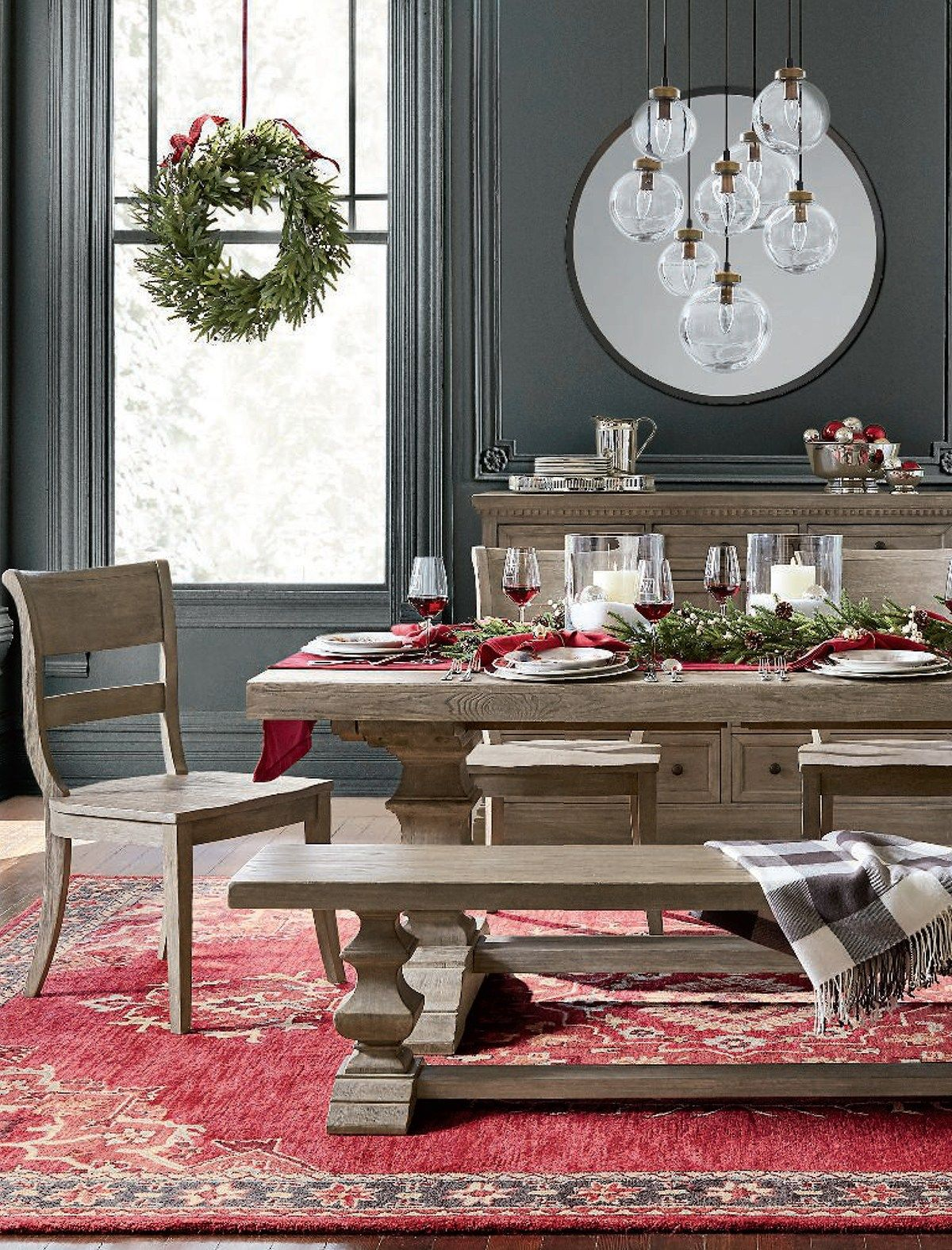Christmas Home Decor Christmas Dining Table Extendable Dining Table Decor