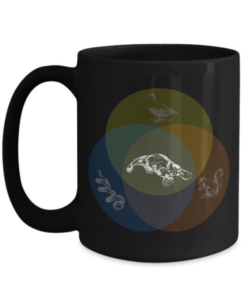 Shirt White Funny Platypus Venn Diagram Coffee Mug 15oz Black