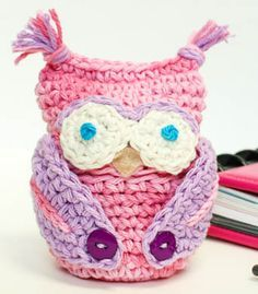 Free owl apple cozy pattern