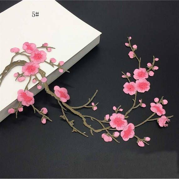 Sakura Cherry Blossoms DIY Embroidery Patches