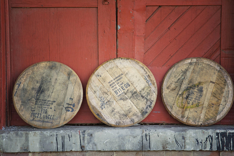 Used Bourbon Whiskey Barrel Head Etsy Whiskey Barrel Barrel Bourbon Barrel