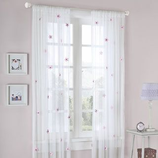 Delight your little girl or teenager with these sheer flower curtain delight your little girl or teenager with these sheer flower curtain panels from mi zone this lovely curtain set features a delicate floral pattern and mightylinksfo