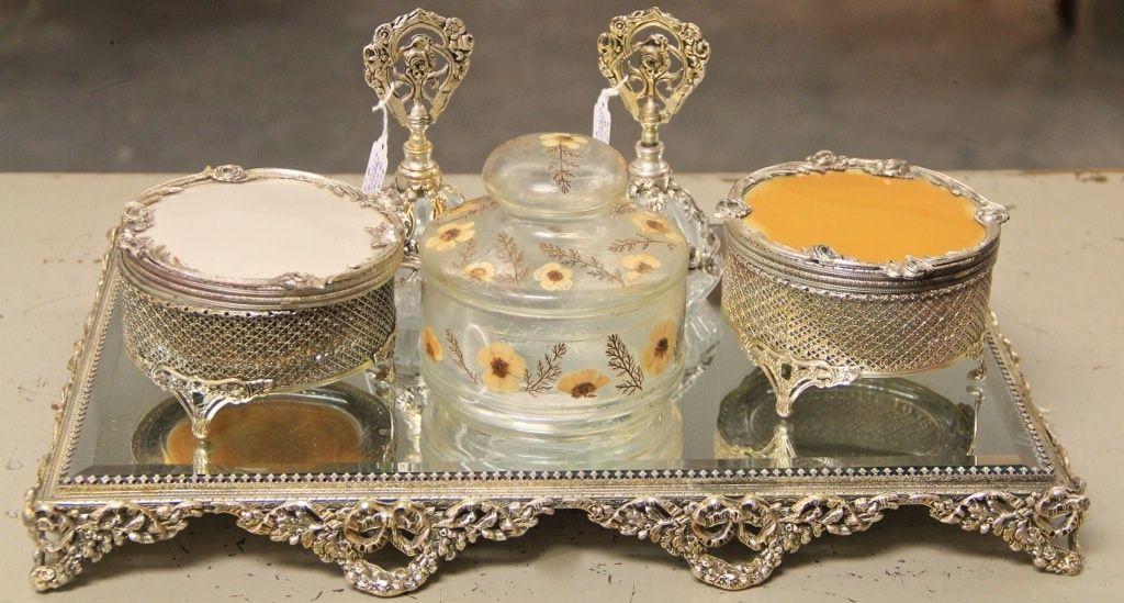Vintage Dresser Trays Tray Sold Powder Jars - Vanity Tray Set For Dresser ~ BestDressers 2017
