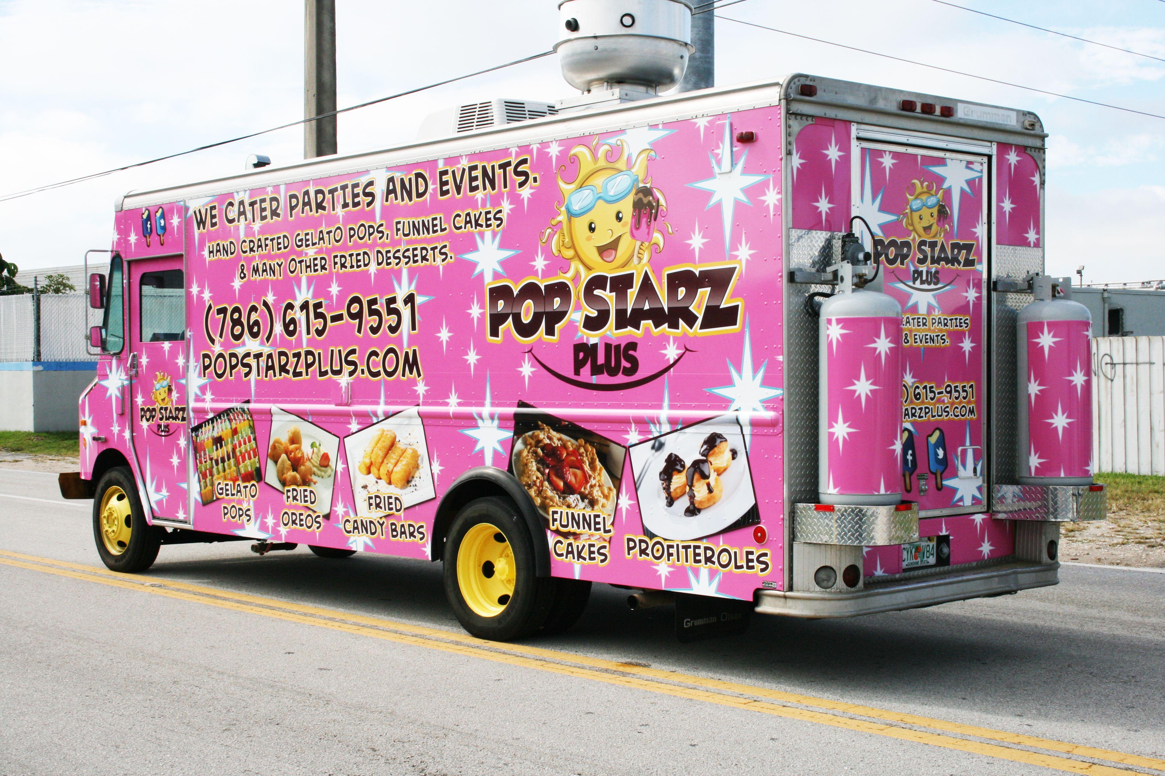 Food Truck Vehicle Wrap Miami Florida Pop Starz Food